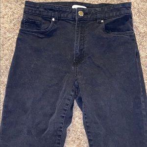 H&M high rise black jeans